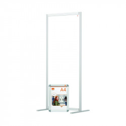 Nobo Modular Free Standing Room Divider Acrylic 800x50x1800mm Clear KF90383