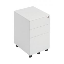 First Steel Under Desk Pedestal 3 Drawer White KF98514