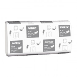 Katrin Plus Hand Towel One Stop M2 White 144 Sheets (Pack of 21) 345379