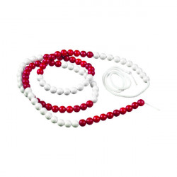 Linex 100 Arithmatic String 150cm White/Red 400065109