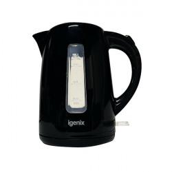 Igenix 1.7 Litre Jug Kettle Cordless Black (3kW jug kettle with rapid boil) IG7205