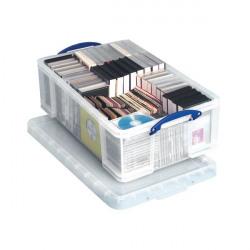 Really Useful 50L Plastic Storage Box W710xD440xH230mm Clear KING50C