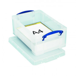 Really Useful 9L Box With Lid and Carry Handles Clear (Dimensions 395x255x155mm) 9C
