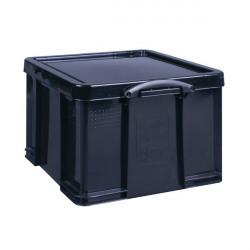 Really Useful 42L Recycled Plastic Storage Box Black 42Black R