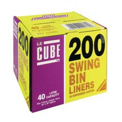 Le Cube Swing Bin Liner Dispenser 46 Litre (Pack of 200) 0480