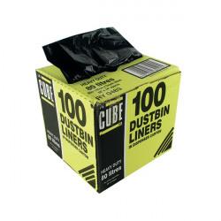 Le Cube Dustbin Liner Dispenser 80 Litre Black (Pack of 100) 0483