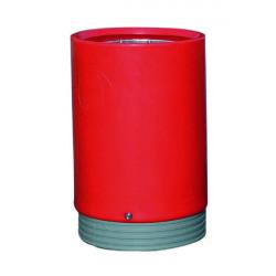 Outdoor Open Top Bin 75 Litre Red 321778