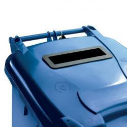 Confidential Waste Wheelie Bin 140 Litre Blue 377891