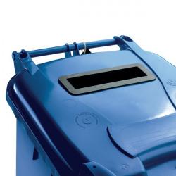 Confidential Waste Wheelie Bin 360 Litre Blue 377893