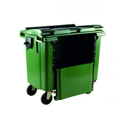 Wheelie Bin With Drop Down Front 1100 Litre Green 377975