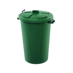 Dustbin with Clip On Lid Green 90L 415697