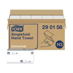 Tork Singlefold Hand Towel H3 White 300 Sheets (Pack of 15) 290158