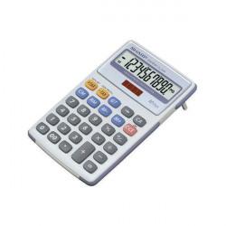 Sharp White and Grey 10-Digit Semi-Desktop Calculator EL334FB