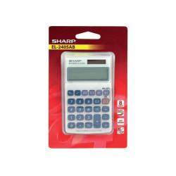 Sharp Silver 8-Digit Hand Held Pocket Calculator EL240SAB