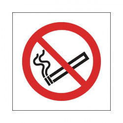 Safety Sign No Smoking Symbol 150x150mm Self-Adhesive P01G/S