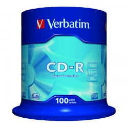 Verbatim CD-R Datalife Non-AZO 52x 700MB (Pack of 100) 43411