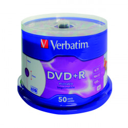 Verbatim DVD+R 16X 4.7GB (Pack of 50) 43234