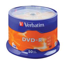 Verbatim DVD-R Spindle 16x 4.7GB (Pack of 50) 43500