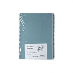 Blue Bound A4 Spiral Pad 80 leaf (Pack of 12) WX01072