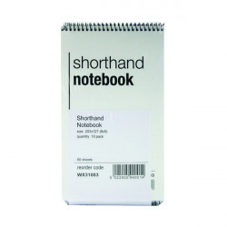 Spiral Shorthand Notebook 80 Leaf (Pack of 10) WX31003