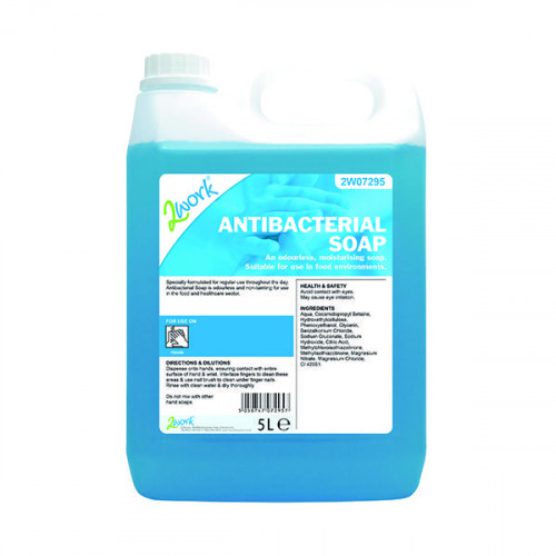 2Work Antibacterial Soap 5 Litres 212