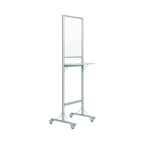 Bi-Office Standing Desk with Acrylic Board 550x720 and Wheels SUP3502