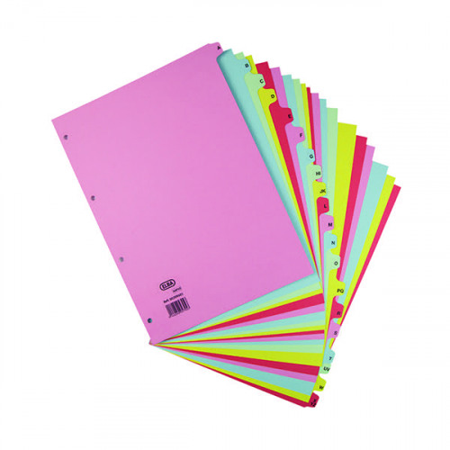 Elba A-Z Card Dividers A4 Assorted 400021450