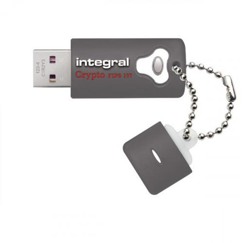 Integral Crypto Encrypted USB 3.0 64GB Flash Drive INFD64GCRY3.0197