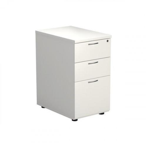 Jemini 3 Drawer Mobile Pedestal 404x800x730mm White KF74150