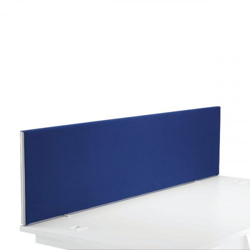 First Desk Mounted Screen 1600x25x400mm Special Blue KF74840