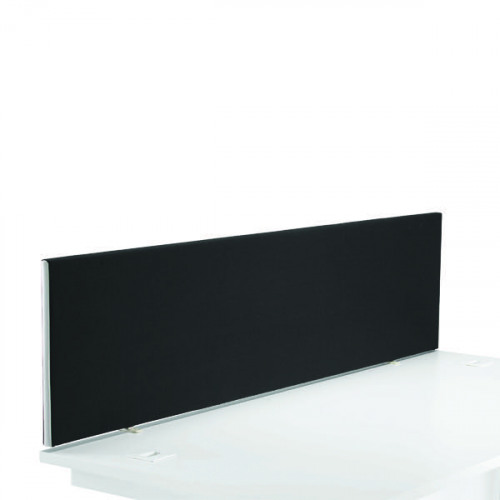 First Desk Mounted Screen 1600x25x400mm Special Black KF74841