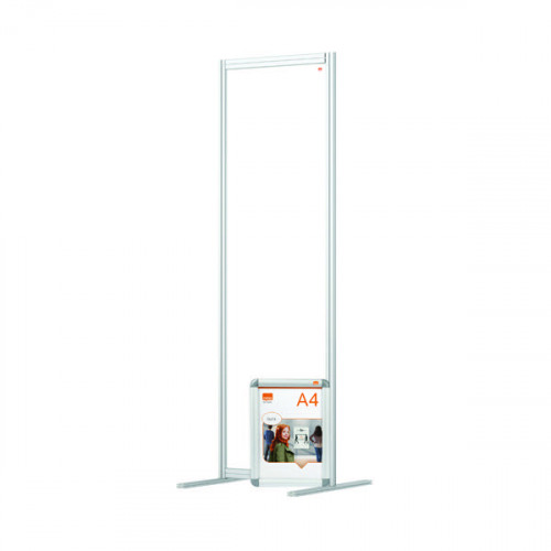 Nobo Modular Free Standing Room Divider Acrylic 600x50x1800mm Clear KF90384