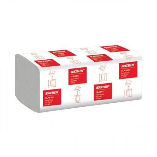 Katrin Classic Zig Zag 2-Ply White 200 Sheet (Pack of 20) 35298