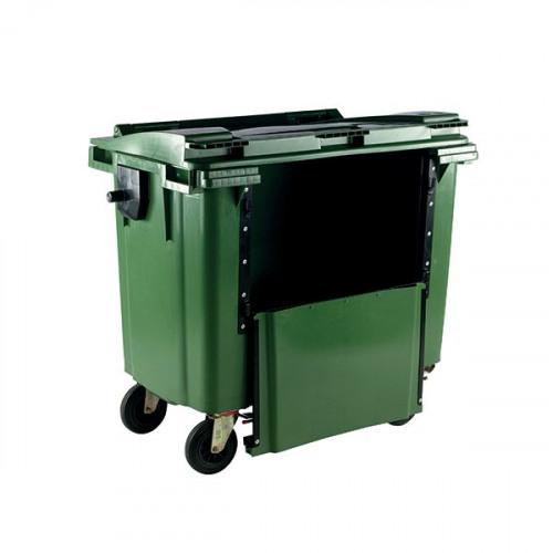 Wheelie Bin With Drop Down Front 770 Litre Green 377966