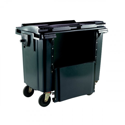 Wheelie Bin With Drop Down Front 770 Litre Grey 377972