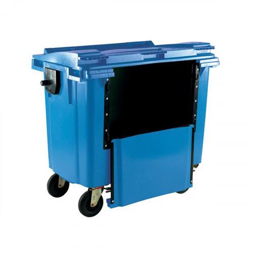 Wheelie Bin With Drop Down Front 1100 Litre Blue 377974