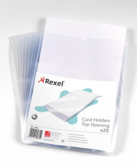 Rexel Clear Polypropylene Card Holders A4 (Pack of 25) 12092