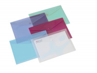 Rexel Popper Folder A4 Clear Assorted (Pack of 6) 16129AS