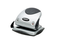 Rexel Precision P225 2 Hole Punch Black and Silver 25 Sheet 2100743