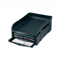 Rexel Agenda2 In-Out Tray 55mm Charcoal 2101016