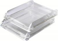 Rexel Nimbus Acrylic Letter Tray Clear 2101504