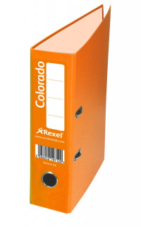 Rexel Colorado 80mm Orange A4 File (Pack of 10) 28146EAST