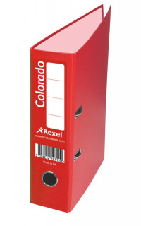 Rexel Colorado 80mm Red A4 File (Pack of 10) 28148EAST