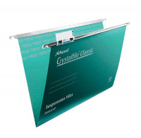 Rexel Crystalfile Classic 15mm Suspension File Foolscap Green (Pack of 50) 78046