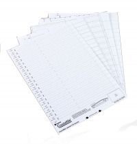 Rexel Crystalfile Printable Filing Inserts White (Pack of 50) 78050