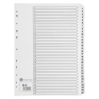 Business Index 1-31 Multipunched Mylar-reinforced Strip Tabs 150gsm A4 White