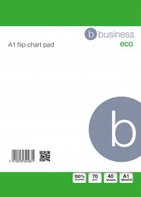 Business Eco Recycled Flipchart Pad Perforated 40 Sheets A1 White [Pack 5]