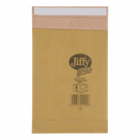 Jiffy Padded Bag Envelopes Mini Pack Size 1 Peel and Seal 170x245mm Brown Ref JPB-MP-1-10 [Pack 10]