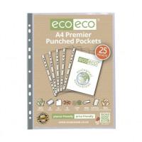 Eco Premium Plastic Pockets Recycled 25s