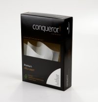 Conqueror Contour Paper Embossed Brilliant A4 White 100gsm Ream (Pack of 500) CQC0324BWNW